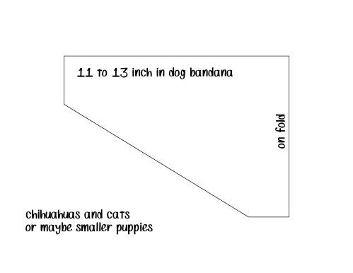 11 to 13 inch dog bandana