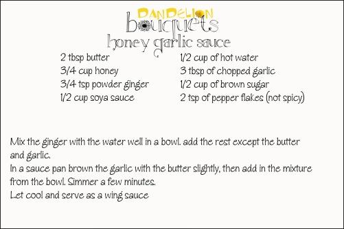 hoeny garlic sauce